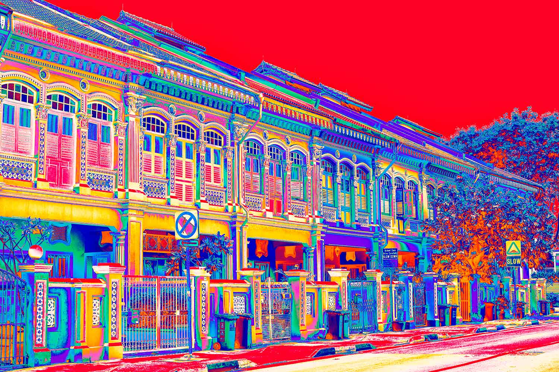 Vibrant Singapore Shophouses