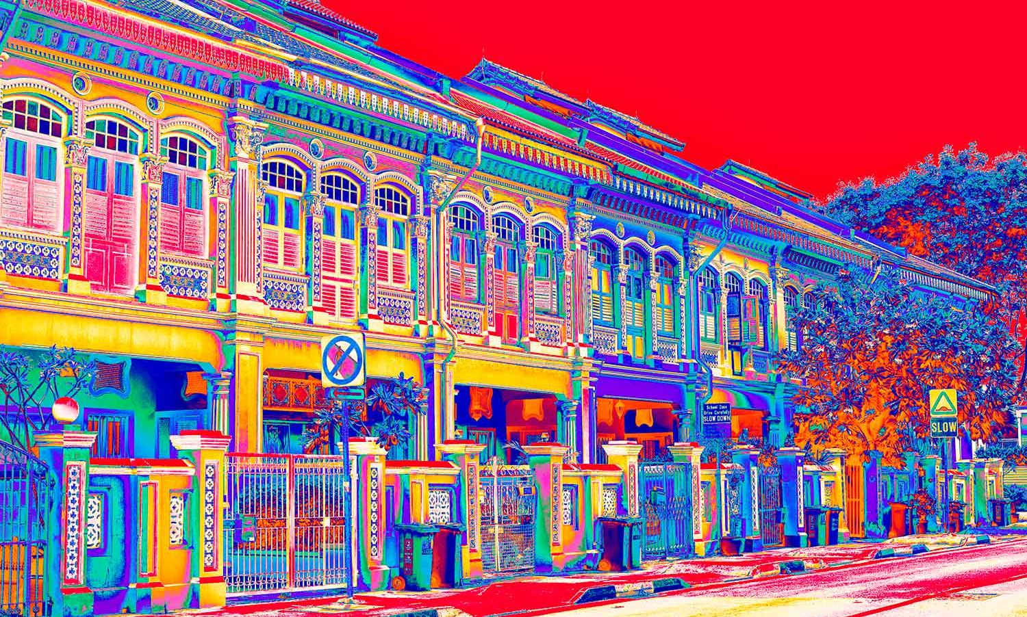 Singapore Shophouses Linda Preece