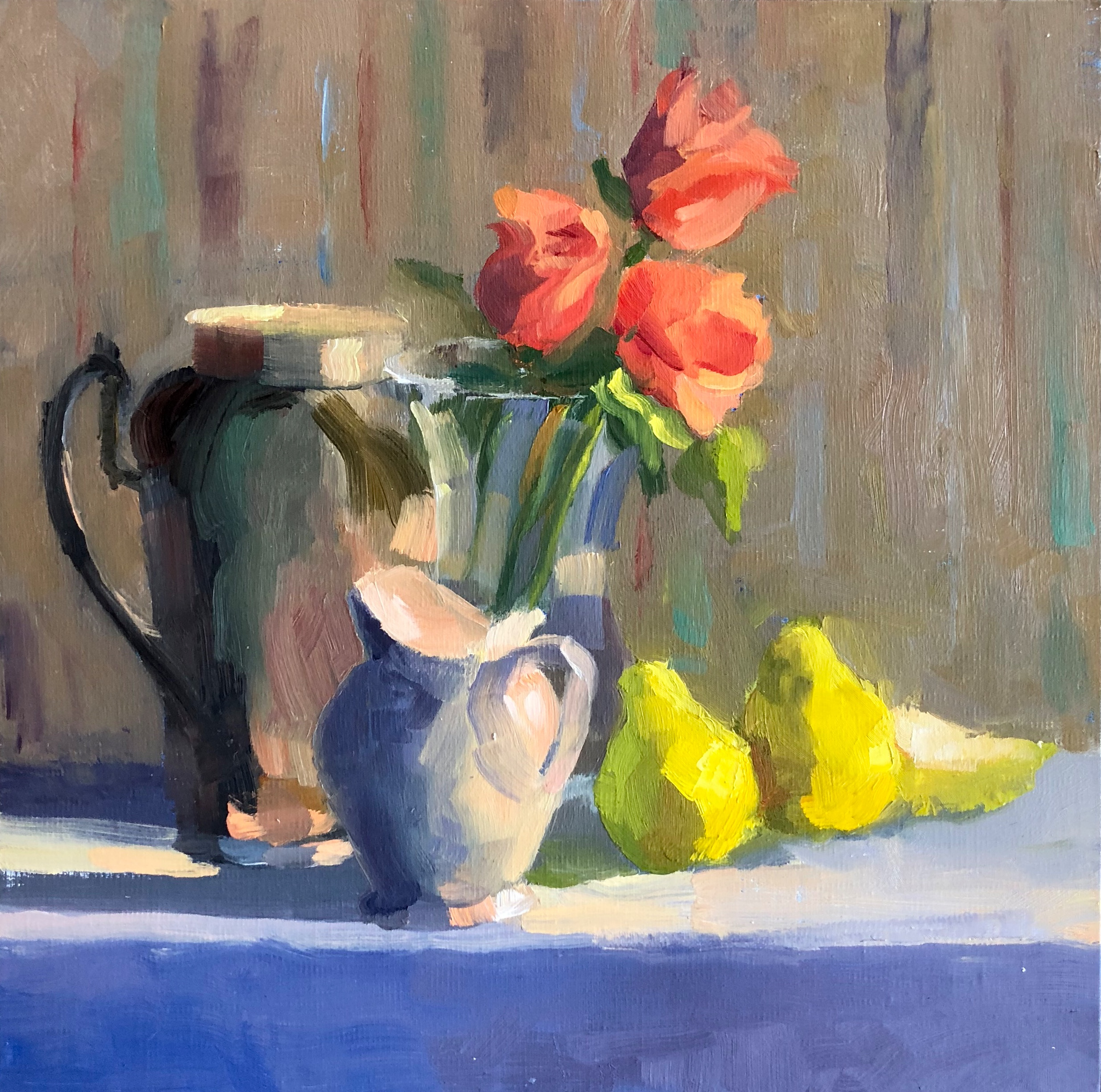 Pitchers with Roses and Pears