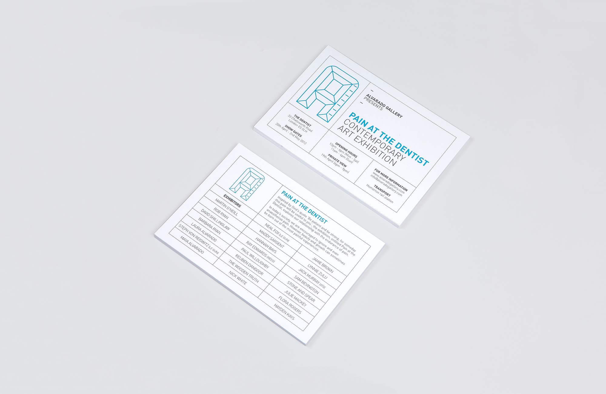All Works Co._Graphic_Design_Studio_London_PainAtTheDentist_Campaign_Print_Postcard