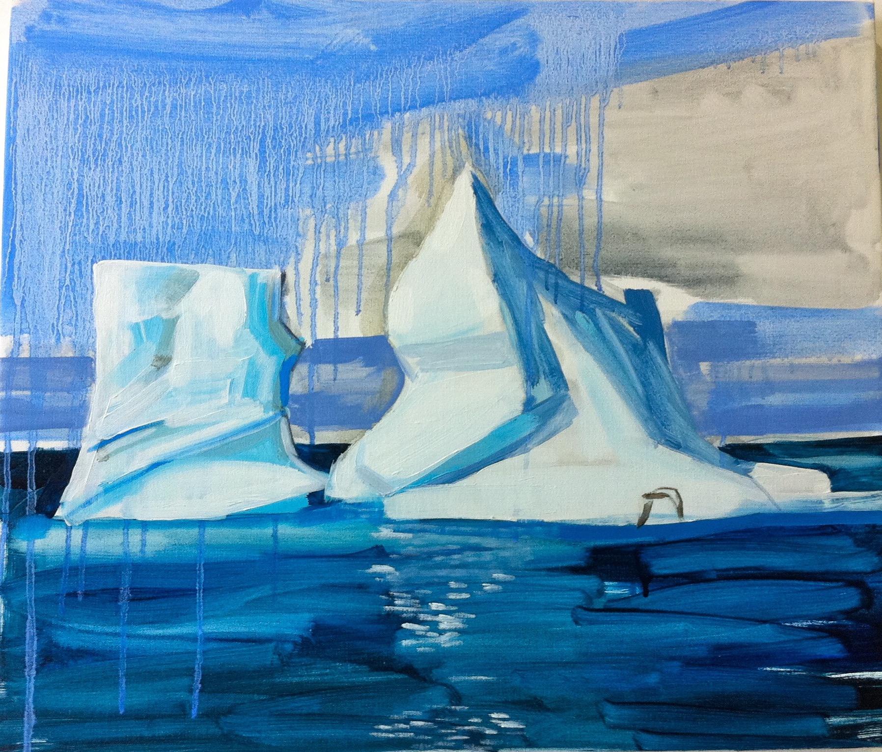 Arctic Circle 55 x 45cm oil on canvas 2013