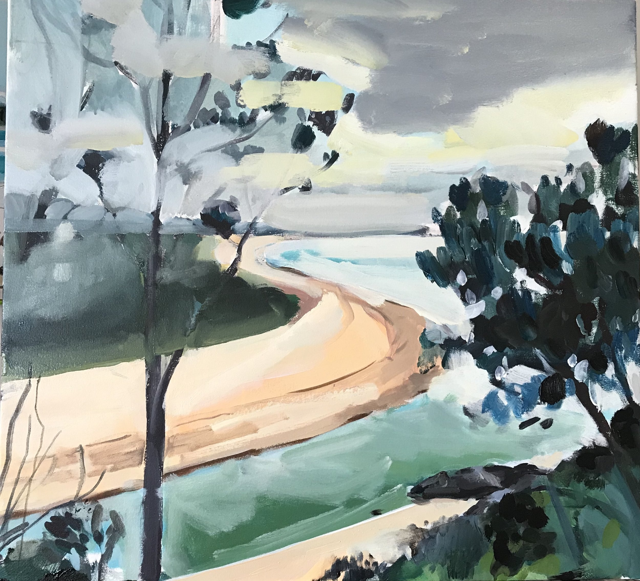 Sawtell 80 x 80cm oil on canvas