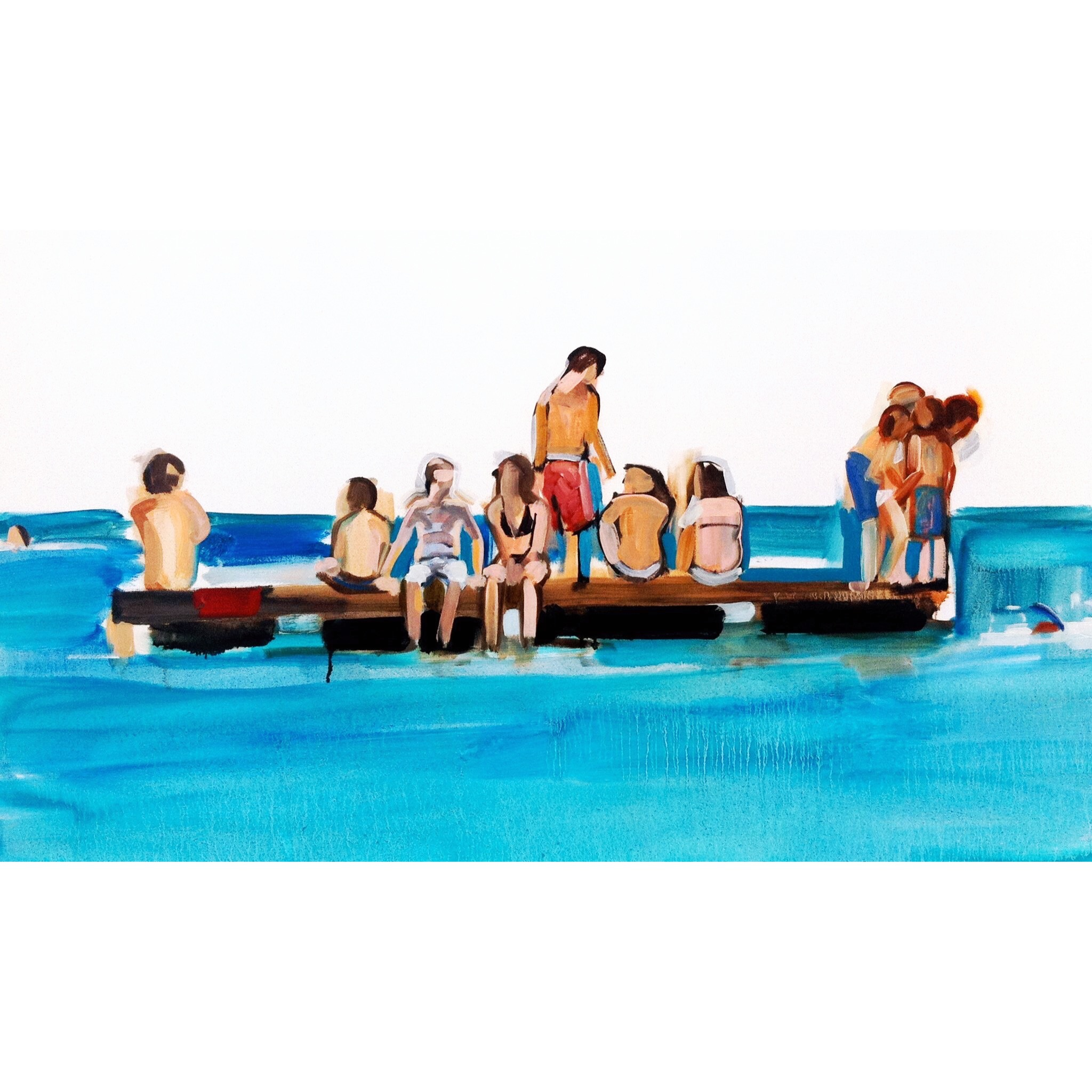 Mullins Beach 102 x 138 cm oil on canvas 2012