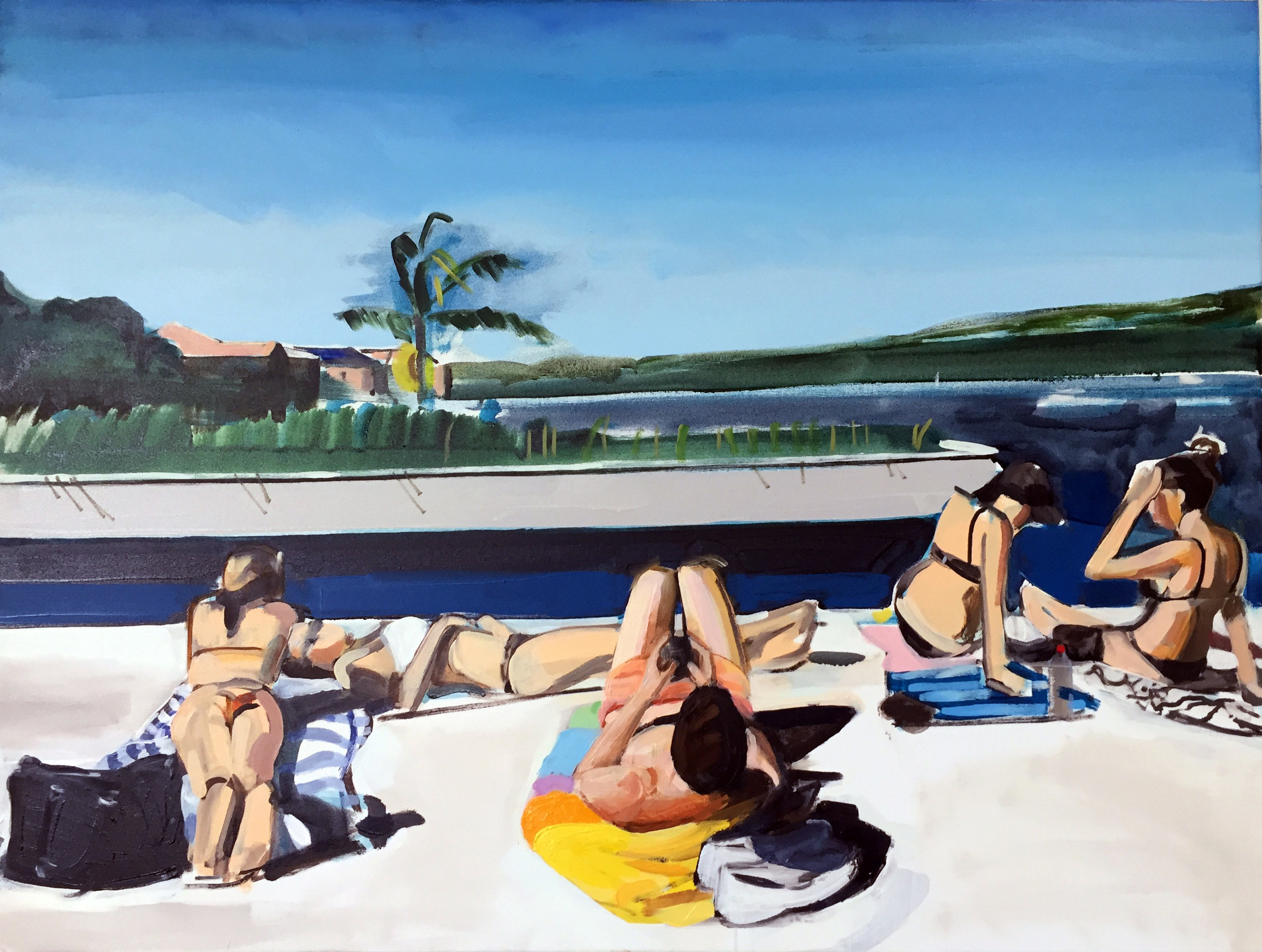 Bondi 90 x 70cm oil on canvas 2016