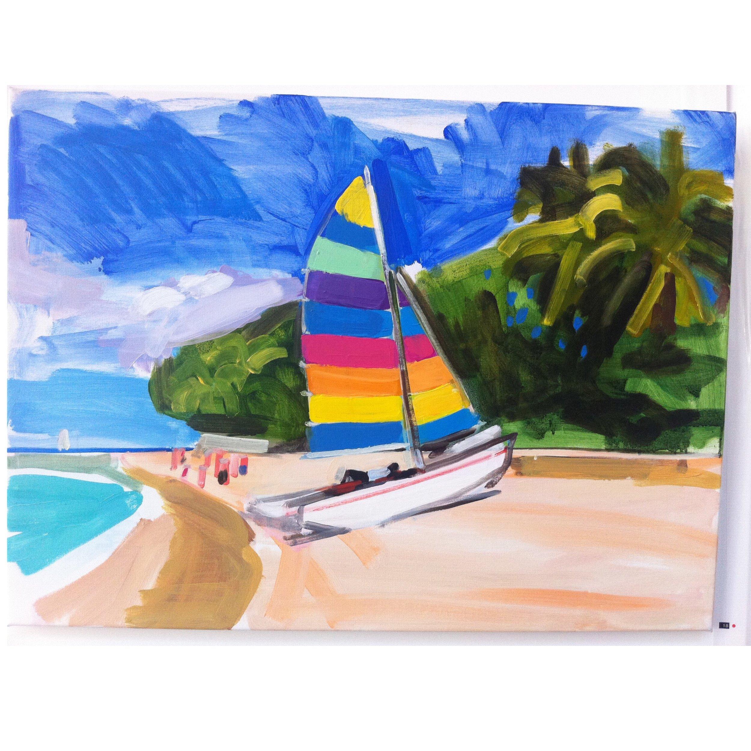 Barbados 90 x 70cm oil on canvas 2012