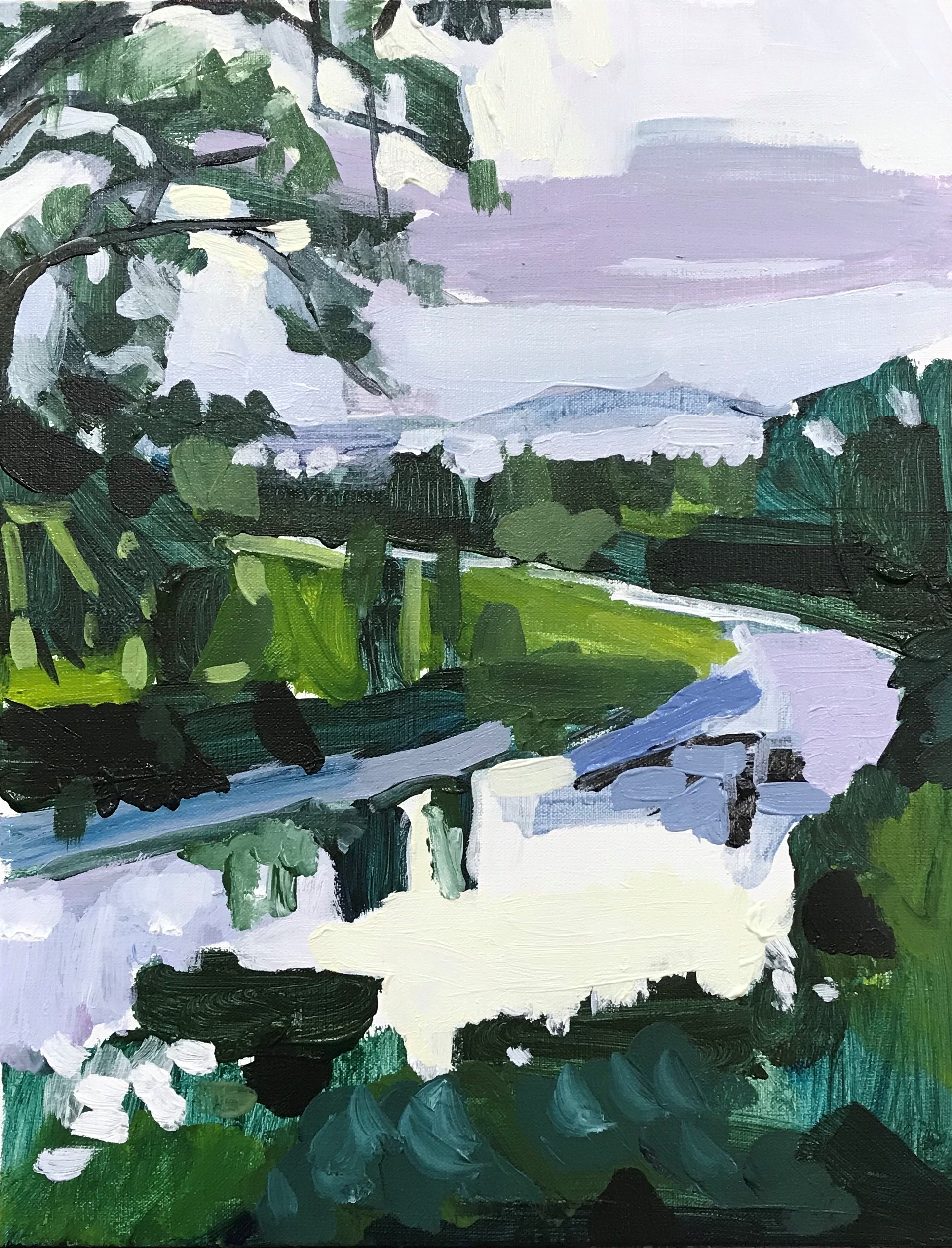 The Course Of The River 36 x 46cm acrylic on canvas 2019