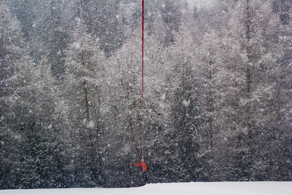 Snowed in slacklines
