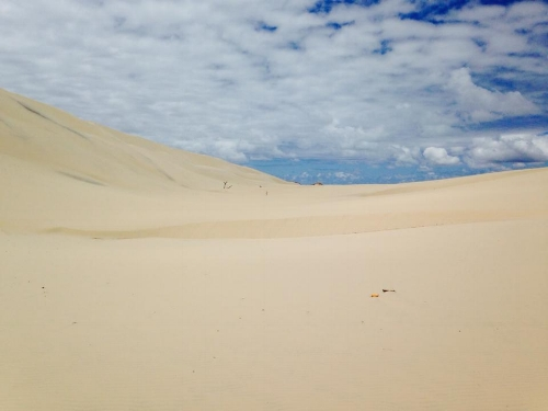 Endless sand dunes of Morton Island