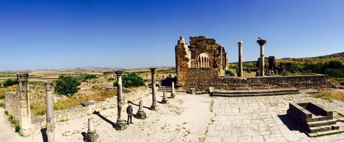 The ruins of Volubilis
