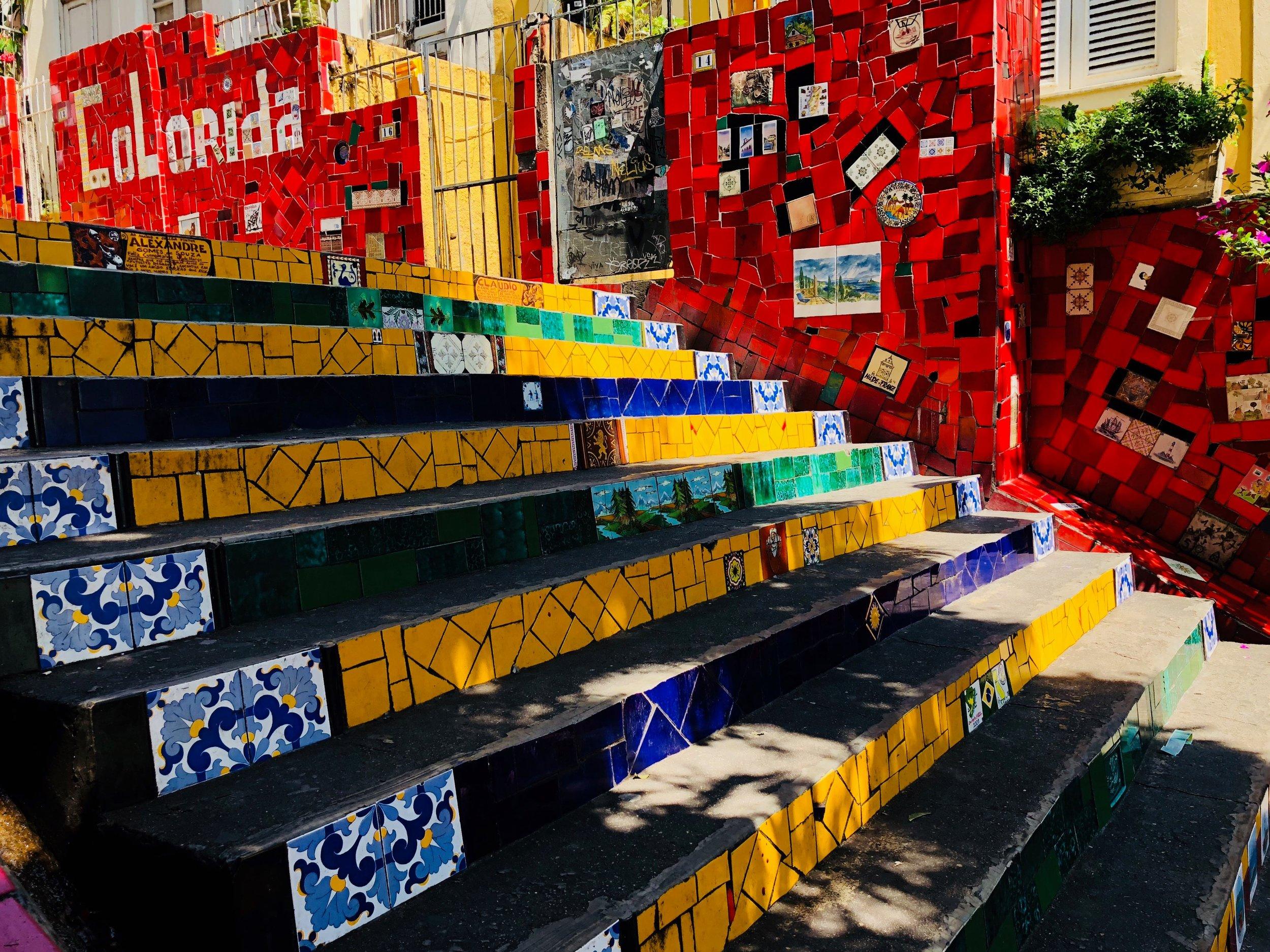 Escadaria Selarón, the famous tile steps - Rio