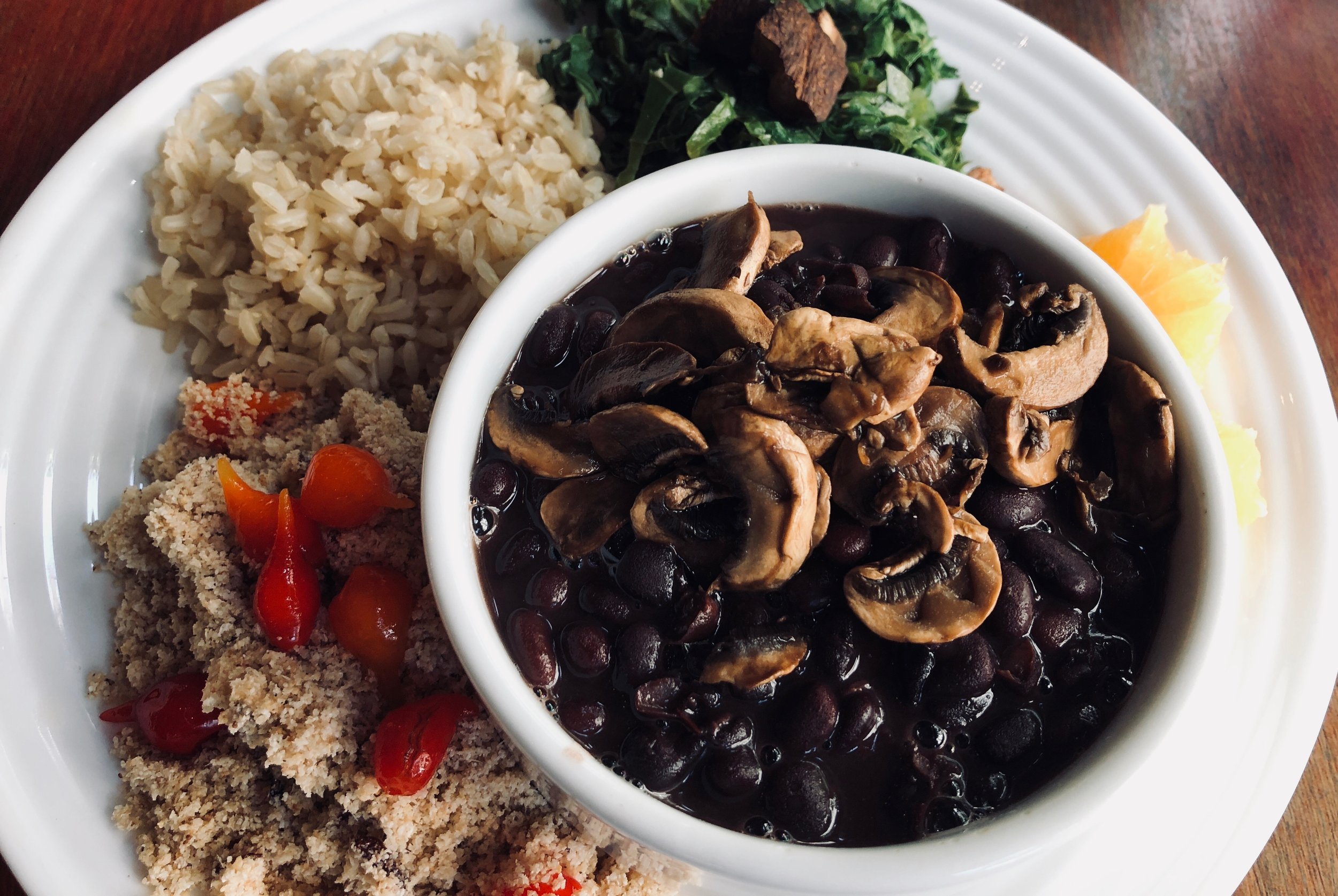 The vegan version of the traditional Brazilian bean stew dish - feijoada