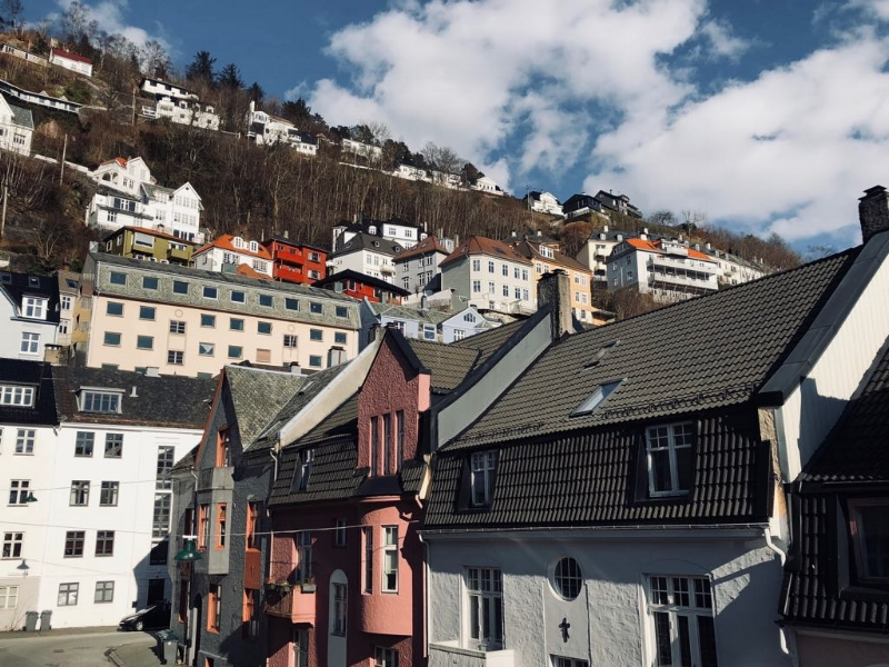 Where do I even begin with Norway...here was my Airbnb balcony view in Bergen