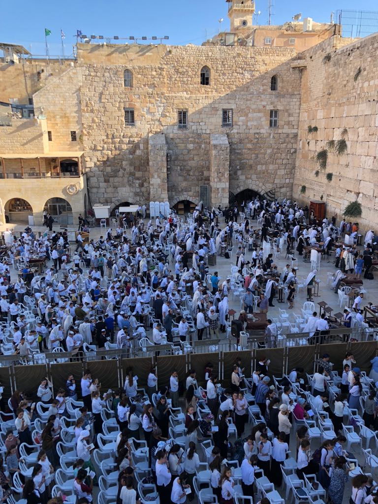 Service at the Wailing Wall...unbelievable