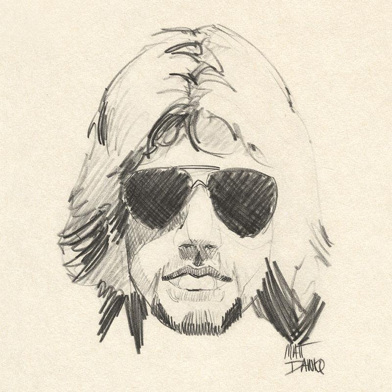 Self portrait from my Art School days - Pencil