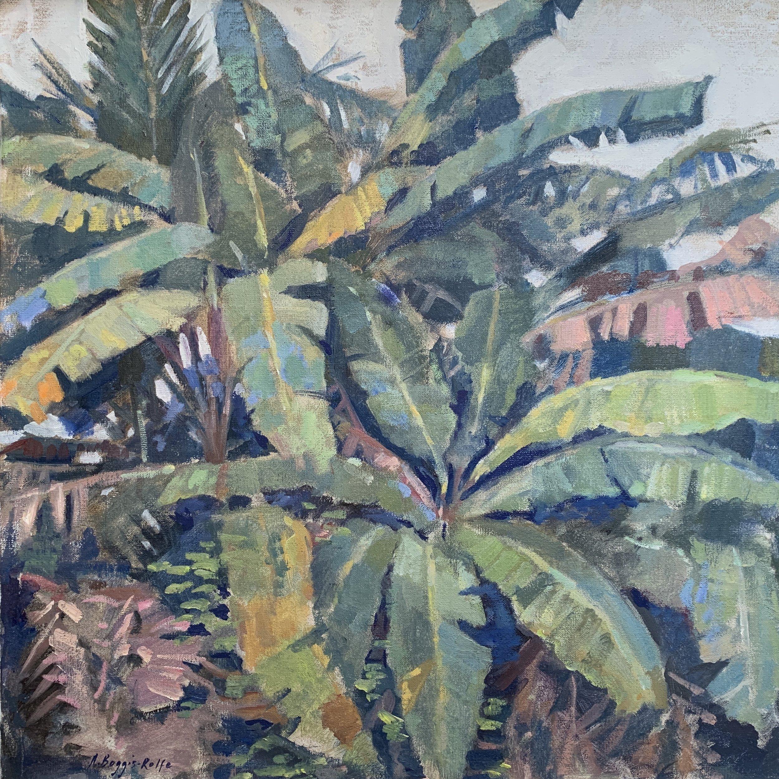 Banana Leaves, Oil on canvas 50 x 50cm.jpg