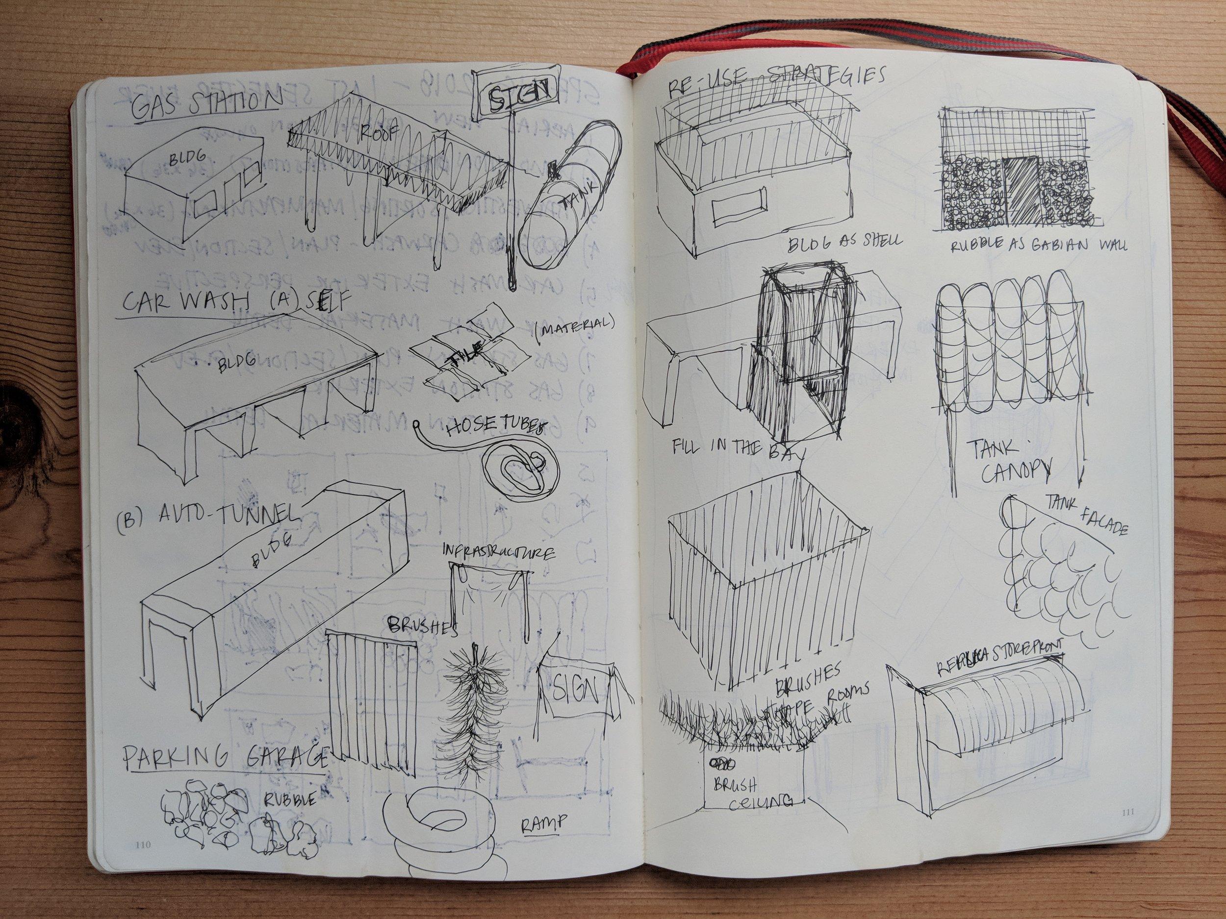 pieces and parts sketch