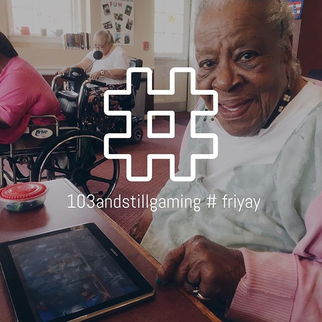 Ms. Irene is over 💯 and she likes to #slay at tic tac toe 🙌 You do you, Ms. Irene!  #friyay #nonprofit #boston #tablettime #instacool #gamer #tech #followfriday