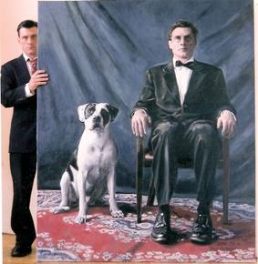 "Man's Best Friend, Oil on Canvas, 94""x 67"", 2007"