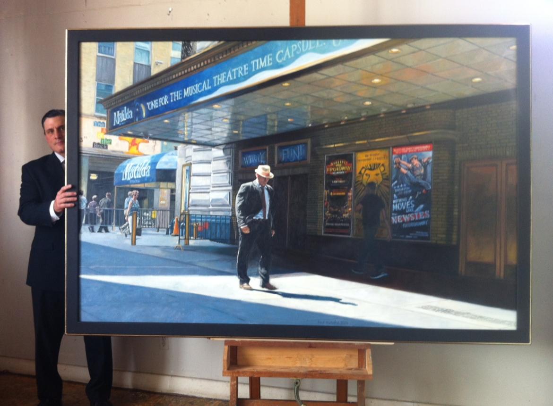 """Shubert Theatre, Oil on Canvas, 60""""x 84"""", 2014"""