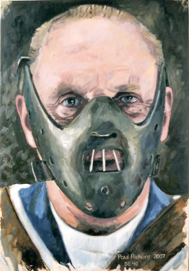 "Hannibal Lecter, Oil on Canvas, 58""x 40"", 2007"