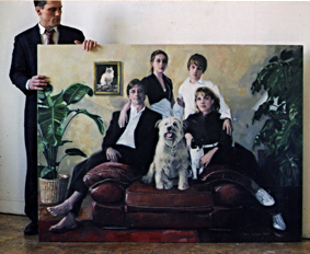 "The Hendersens, Oil on Canvas, 70""x 56"", 2006"