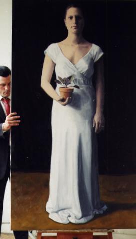 """Ricca, Oil on Canvas, 87""""x 46"""", 2009"""