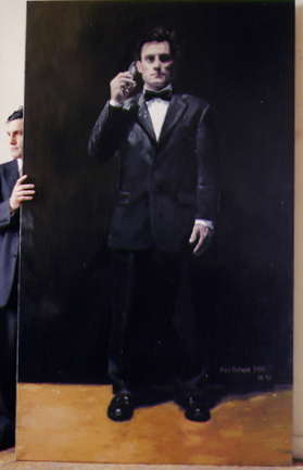 "Cell Phone Man, Oil on Canvas, 86""x 52"", 2006"