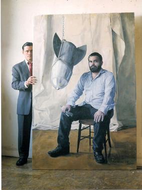 """Shawn, Oil on Canvas, 82""""x 54"""", 2008"""