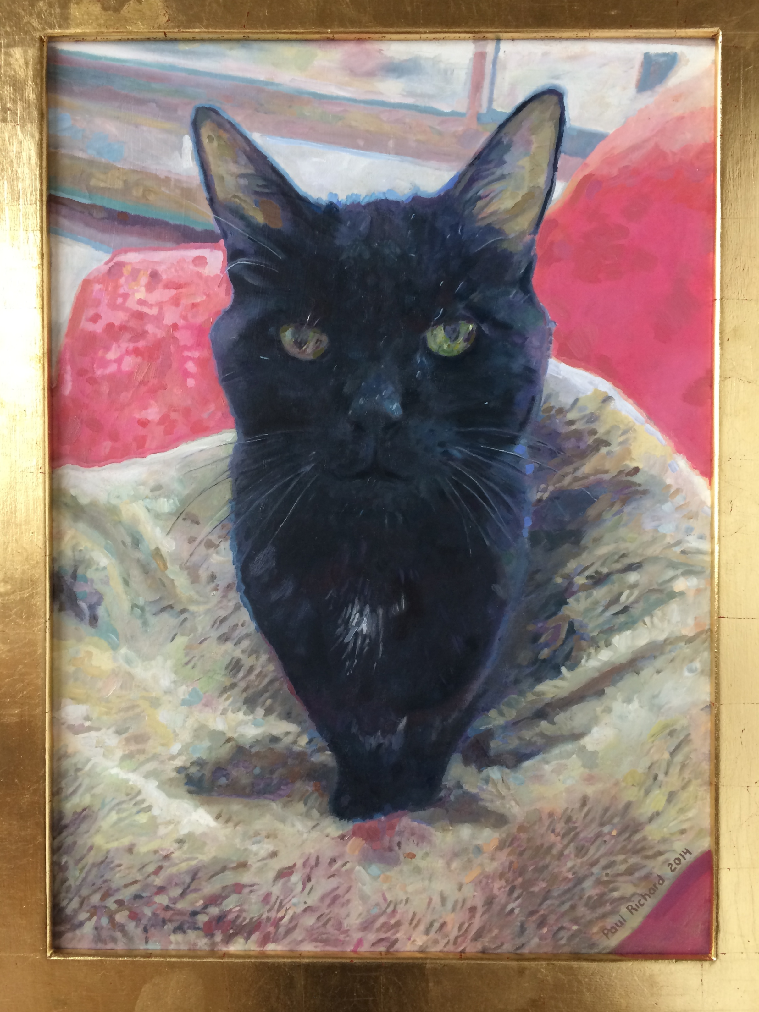 "Cat, Oil on Canvas, 36""x 24"", 2014"