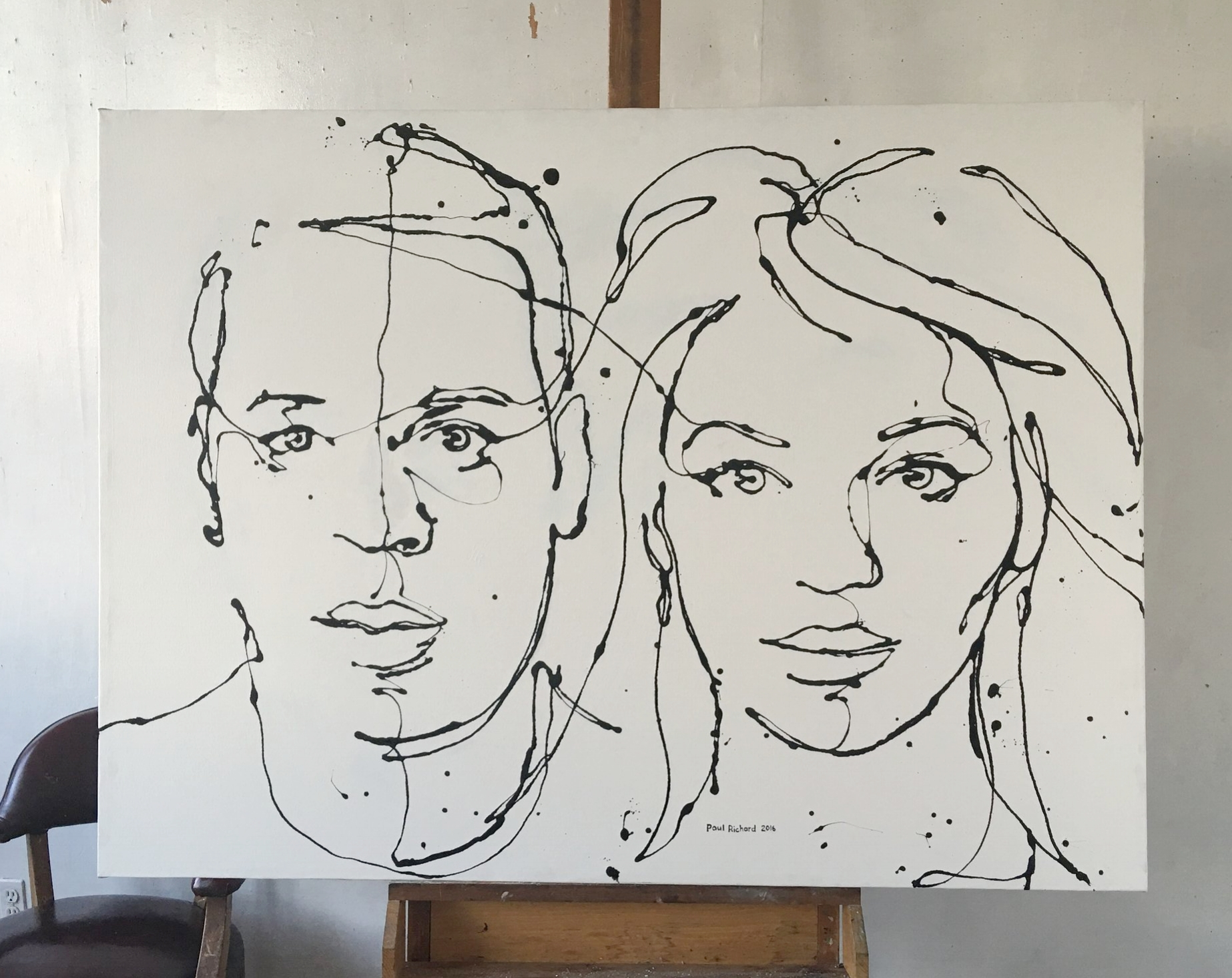 Private collection Jay Z & Beyoncé  Jay Z & Beyoncé, 2016, Oil on Canvas, 46 x 62 inches