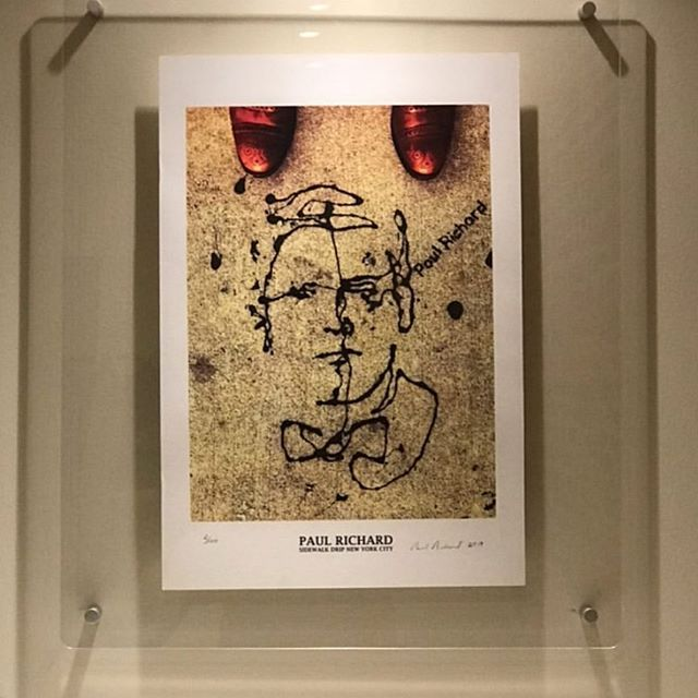 Pictures of framed SOLD🔴 prints from private collections are coming in- Sidewalk Drip New York City 2019, 19 x 13, signed and numbered, edition of 100, thumb print on back for authentication, archival heavyweight paper. Available at PaulRichard.Net #DripDrawing #DripArt #DripPortrait #SidewalkDrip #UrbanArt #StreetArt #StreetArtNYC #PaulRichard #PaulRichardNYC #PaulRichardArt Buy- PaulRichard.Net info- paul@paulrichard.net