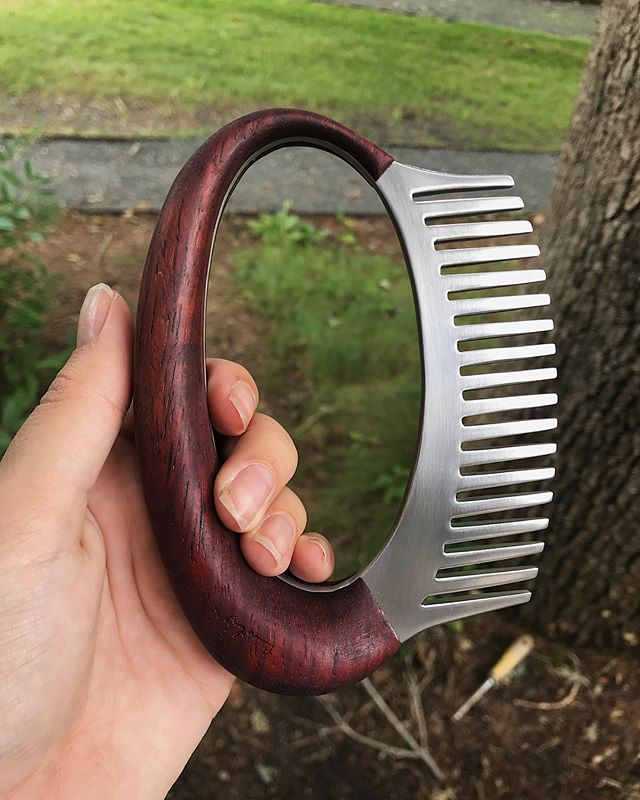Here is the finished comb I forgot to post from Penland a few weeks ago. Penland is definitely the most magical place in the world. Made with jarrah and aluminum.