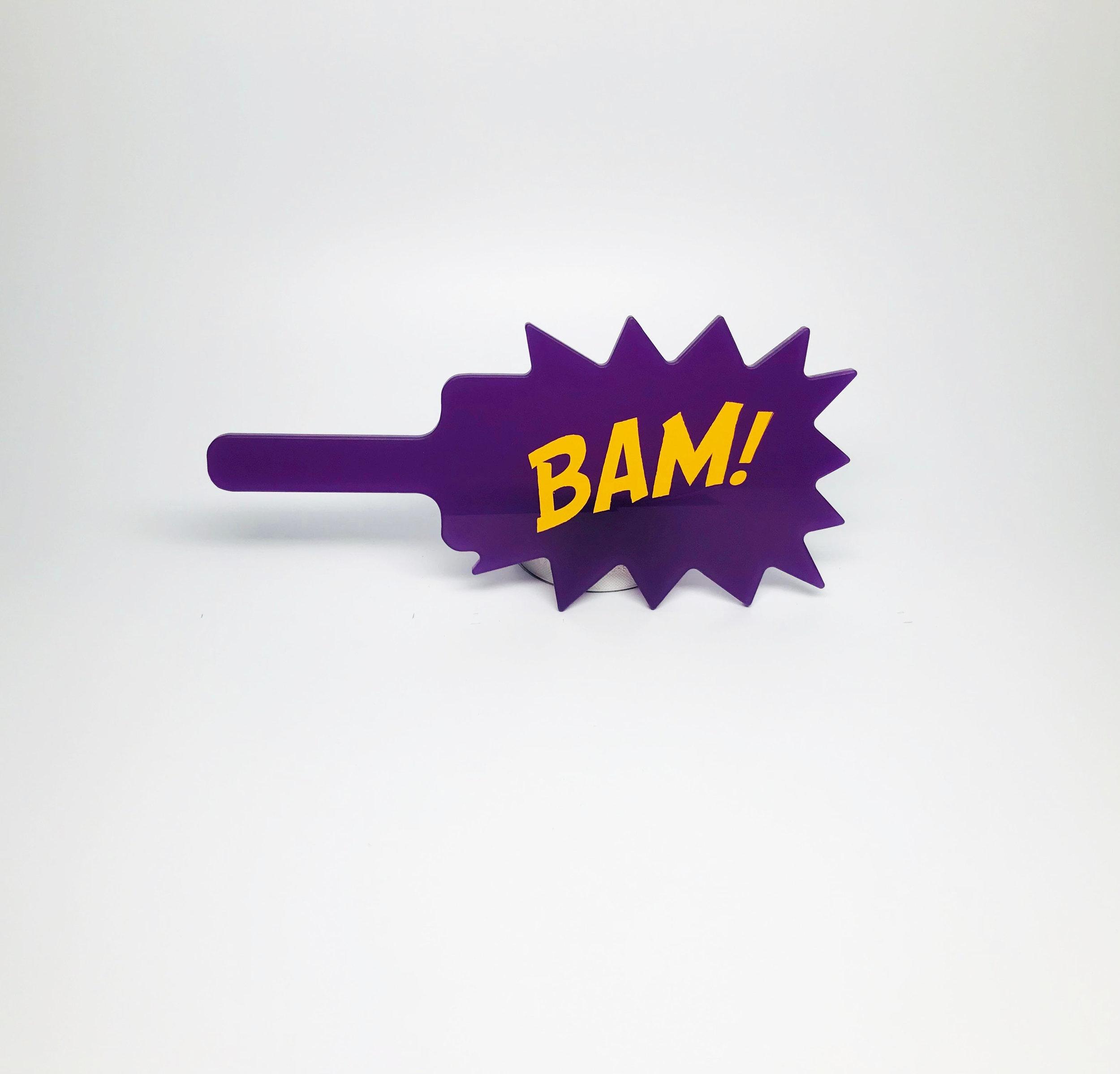 $60 - shaped acrylic/vinyl (Bam)
