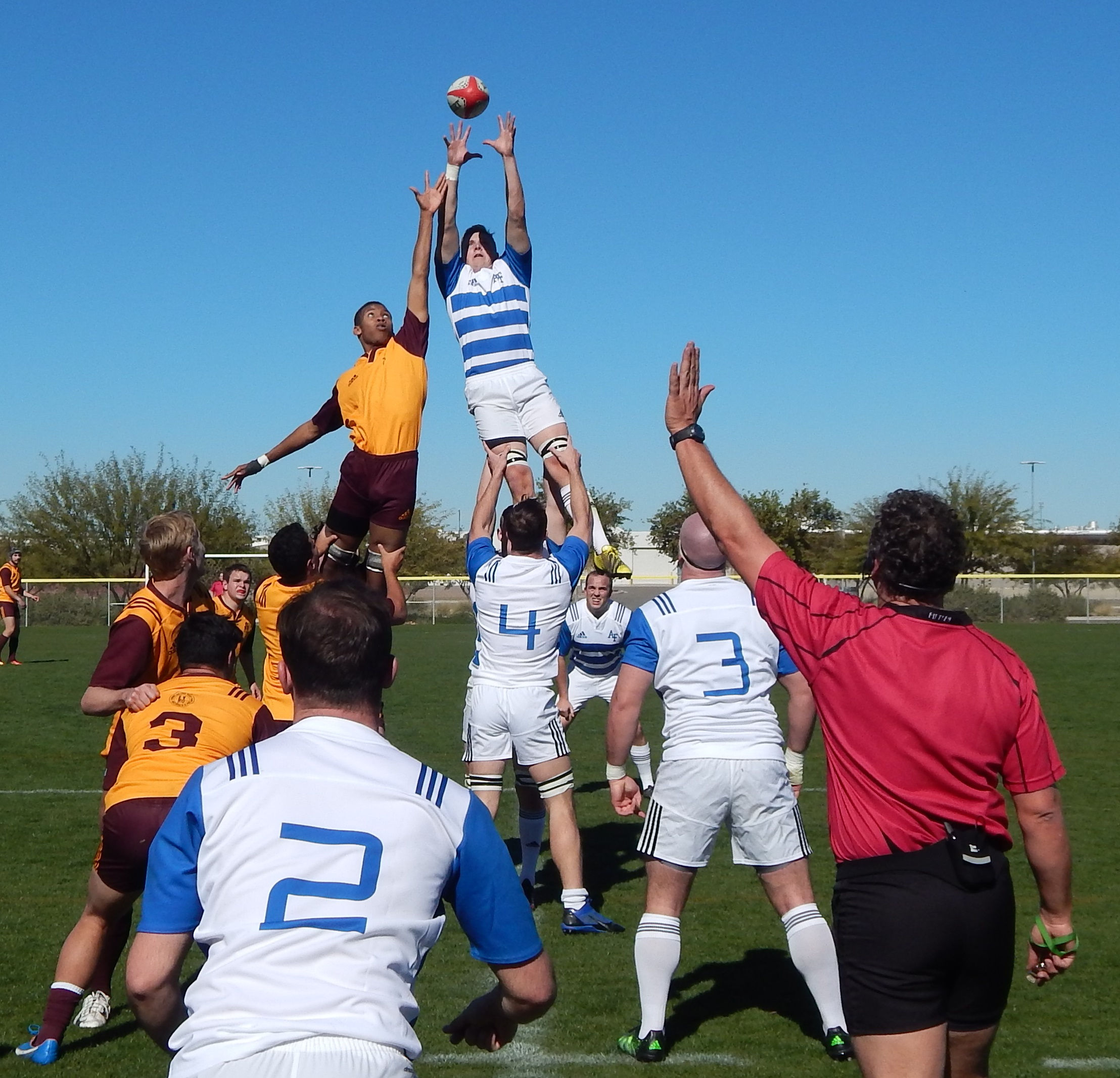 Great line-out throw from Brady Miner