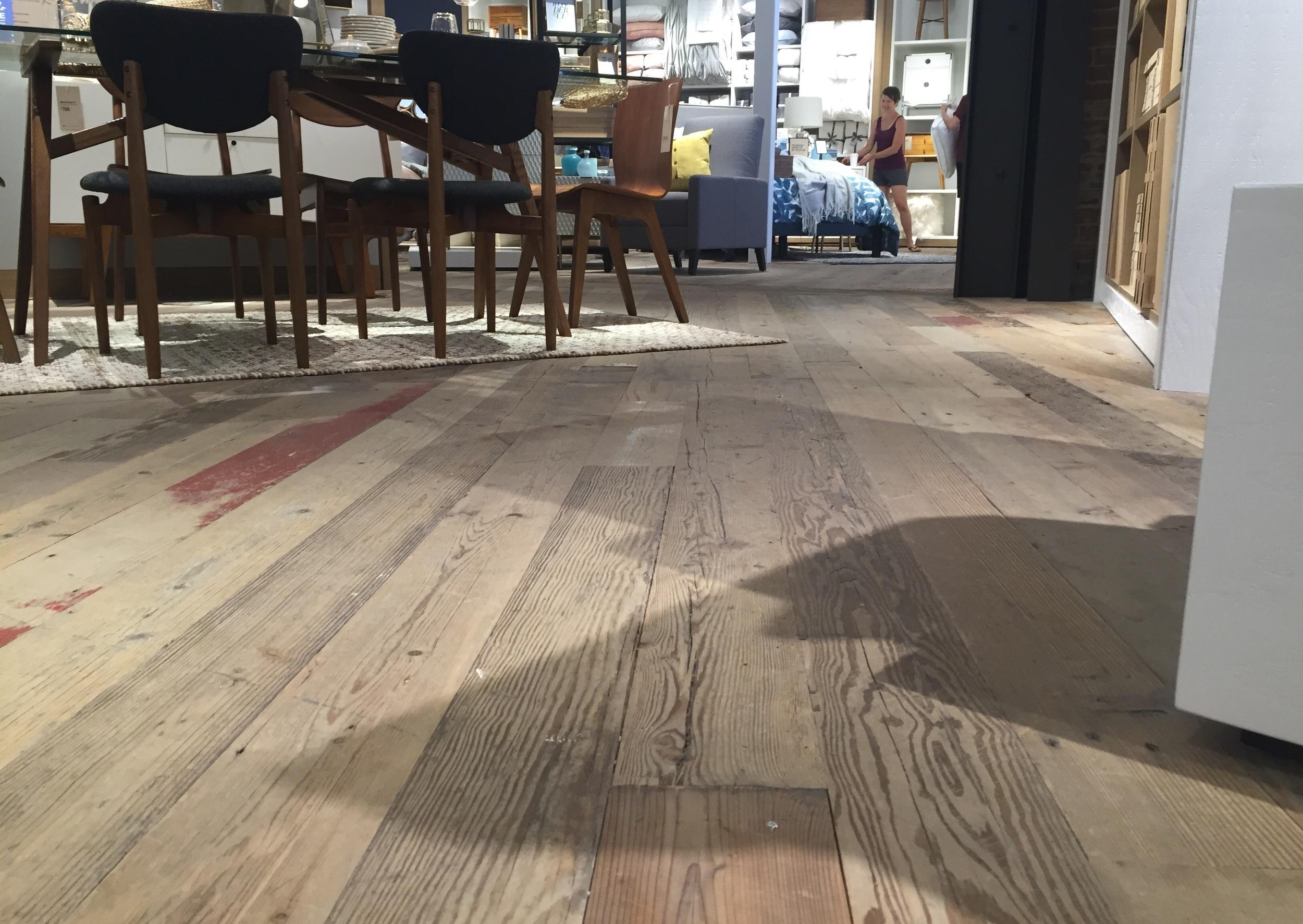 The floors even creak!
