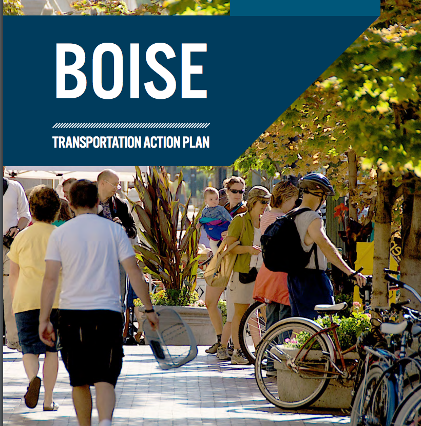 Perhaps not by accident, there are no cars on the cover of Boise's TAP.  Click to view .
