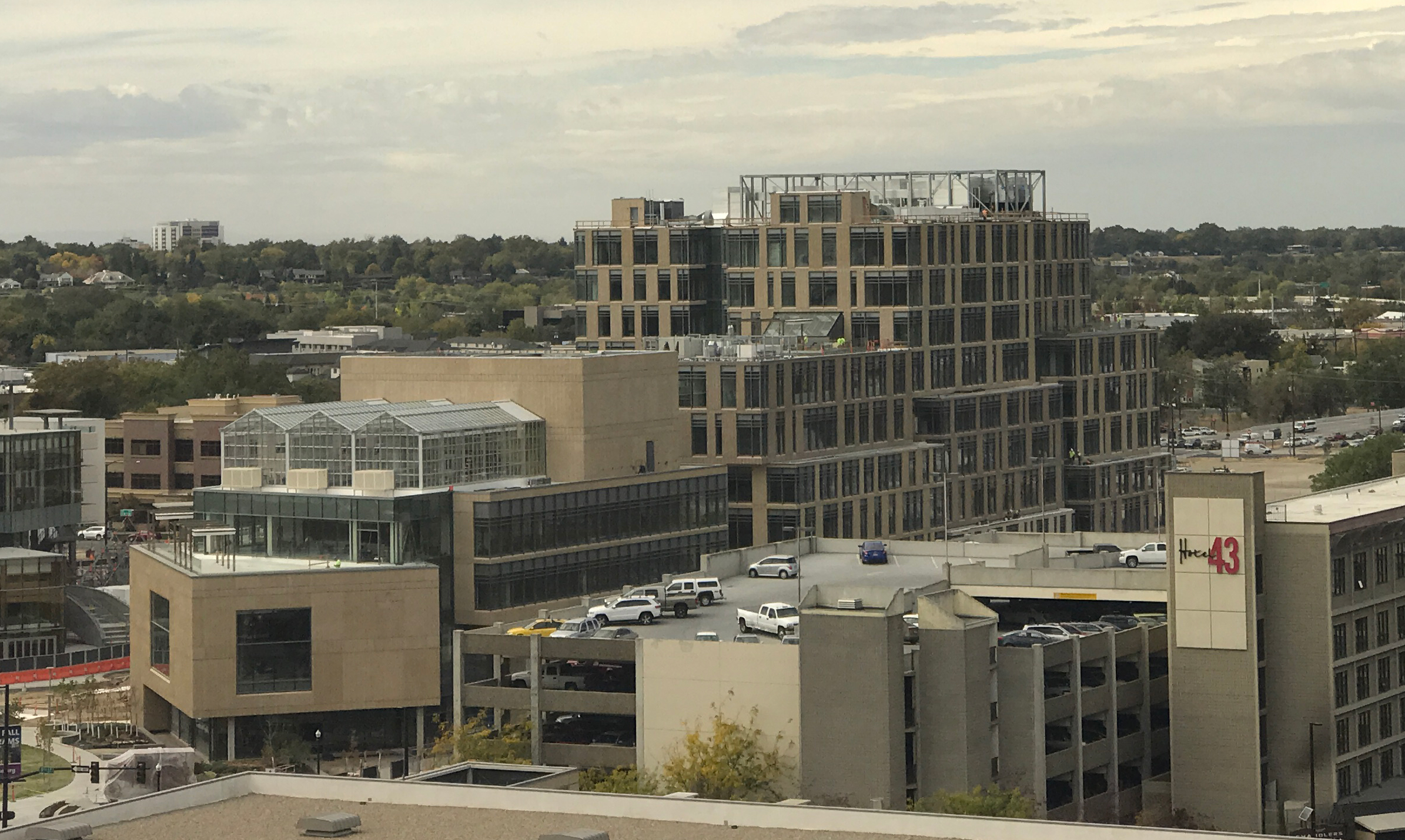The new Simplot Building as seen from a distance - the US Bank Building several blocks away.