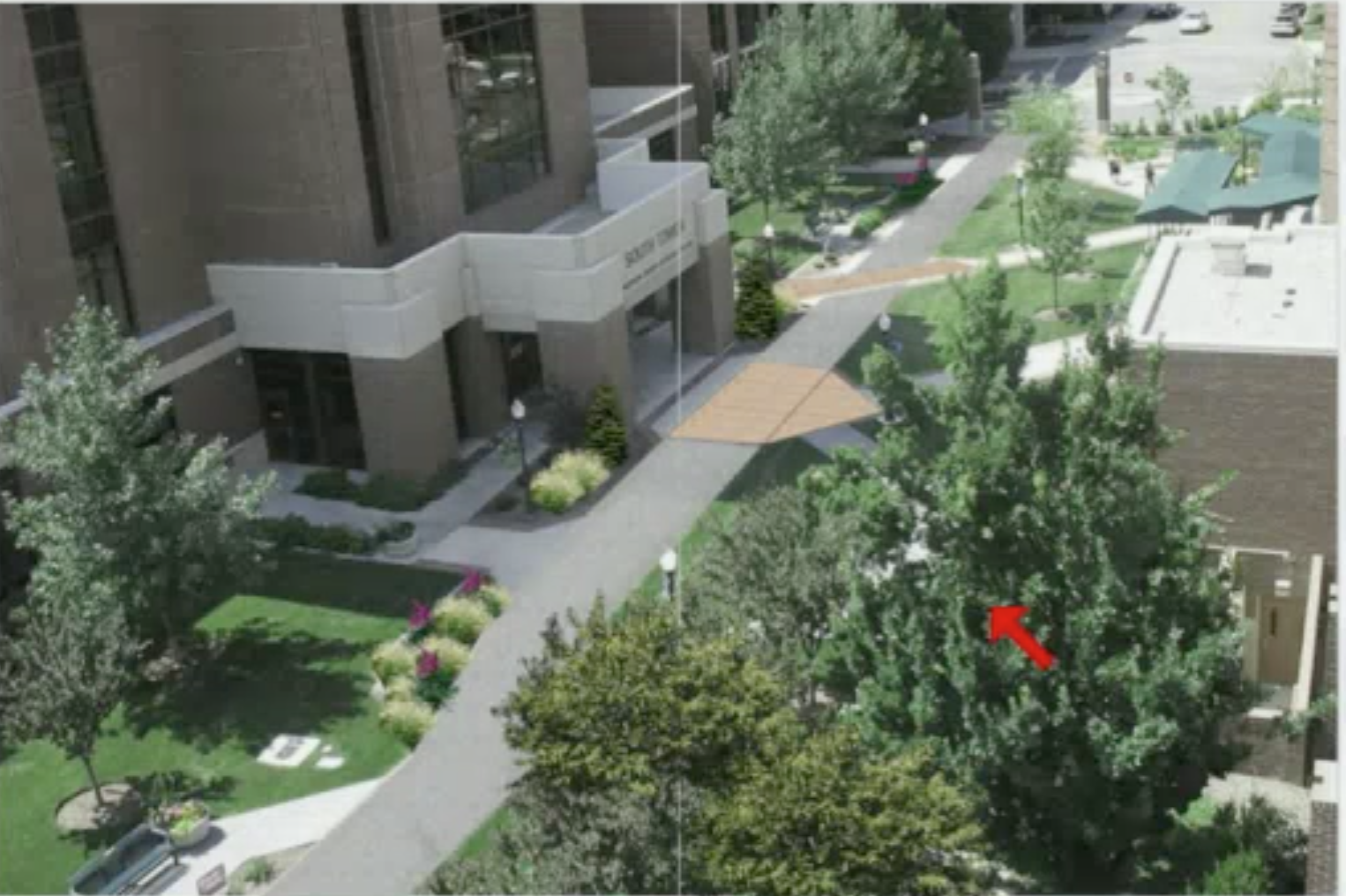 Rendering of proposed changes to Bannock St. corridor, via St. Luke's Health System as presented to Boise City Council