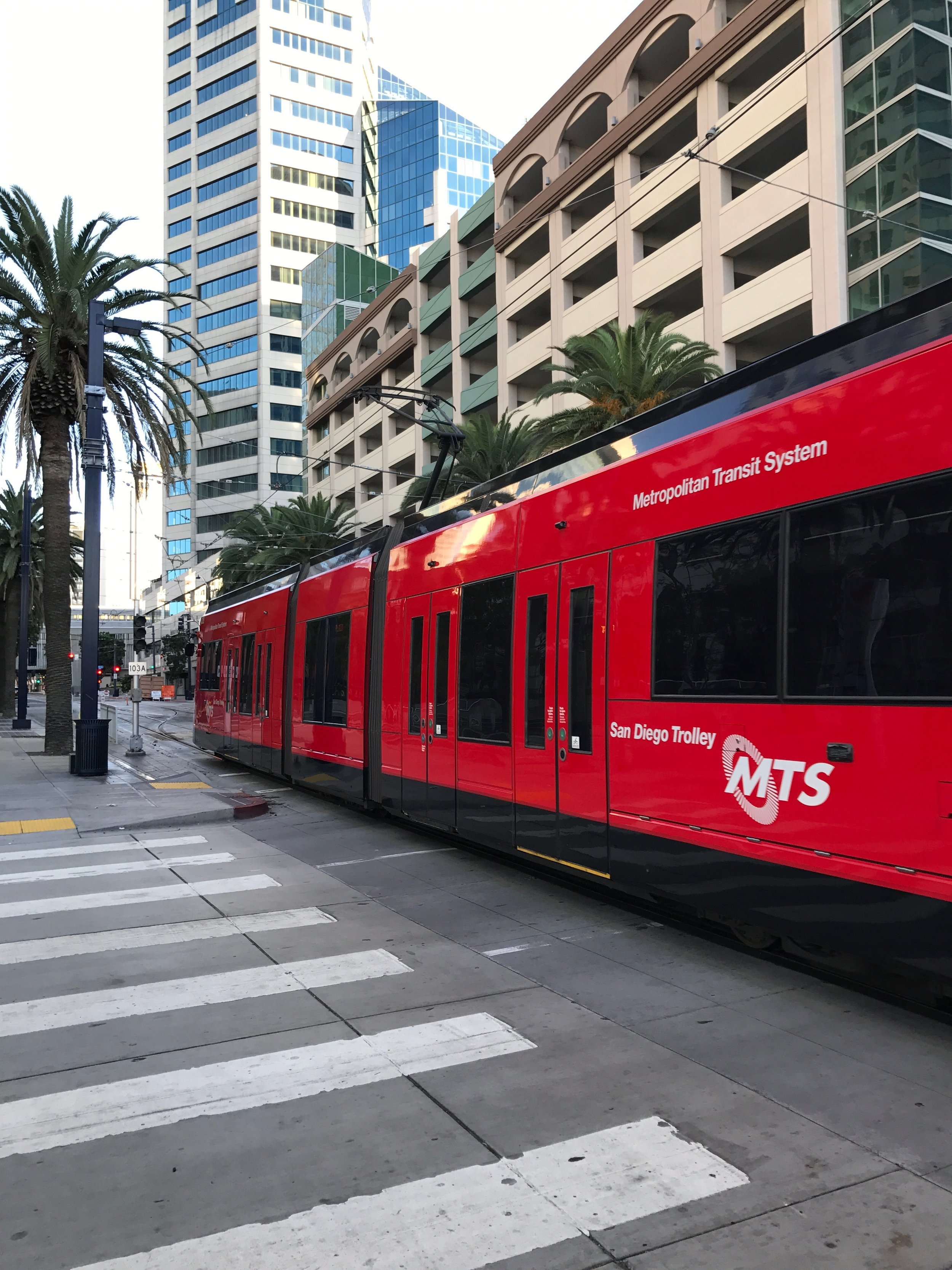 San Diego trolley in December. Photo: Don Day/BoiseDev.com
