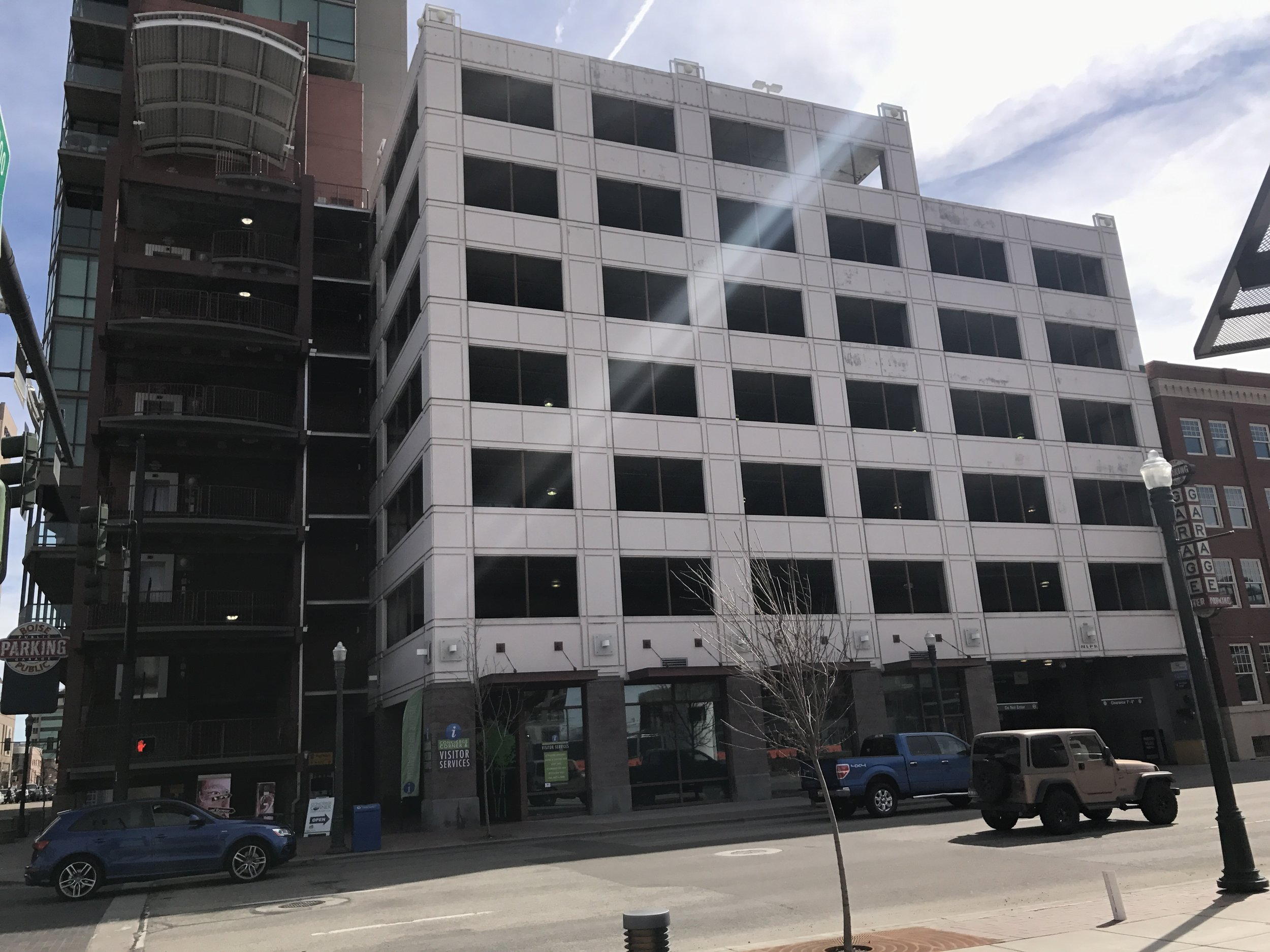 The eight-story 9th & Front Garage was the site of more than 90% of all suicides attempted on a downtown garage from 2014-2016 according to a report from the Idaho Department of Health & Welfare's Suicide Prevention Program. Don Day/BoiseDev.com
