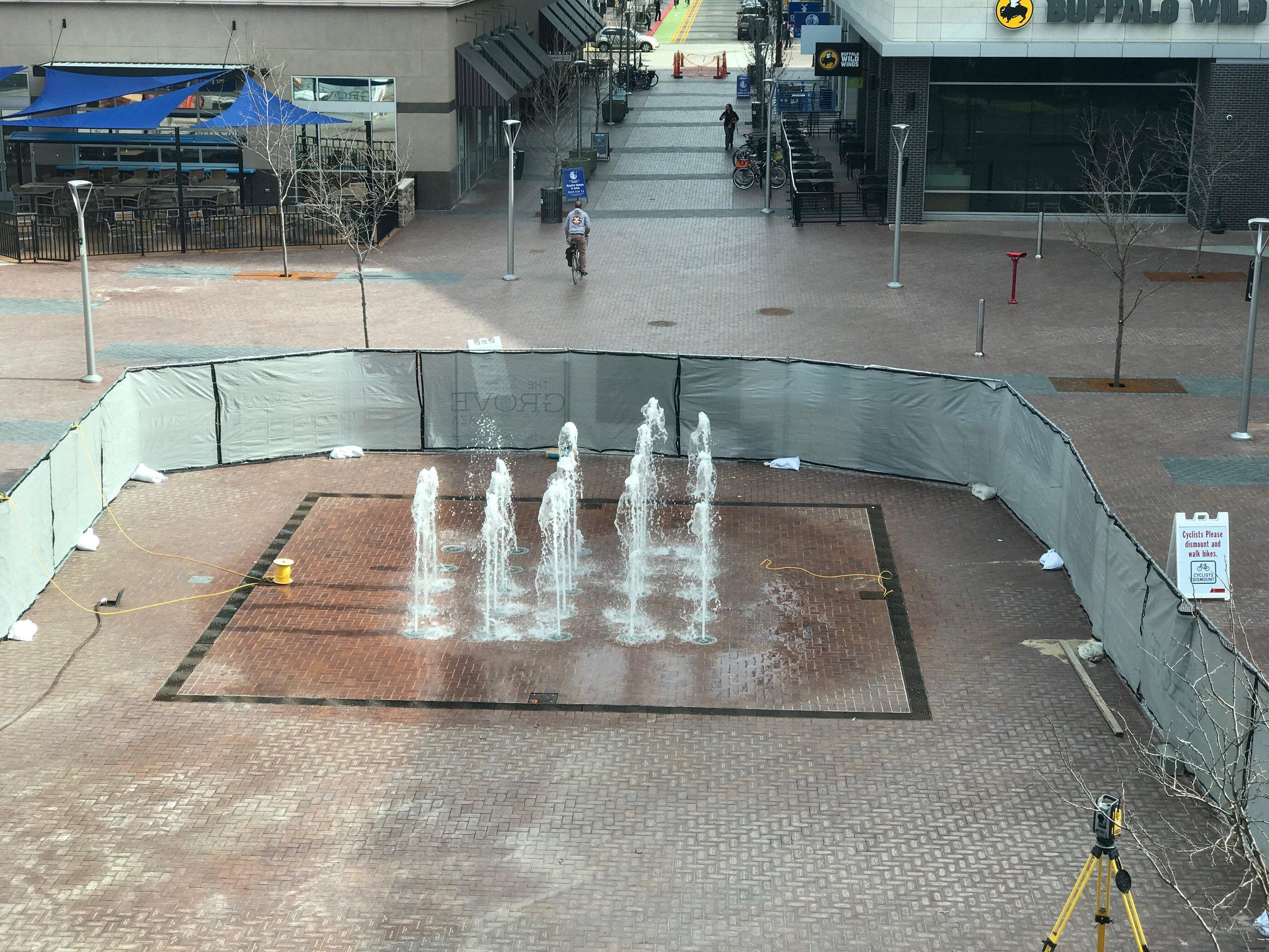 Fountain testing underway