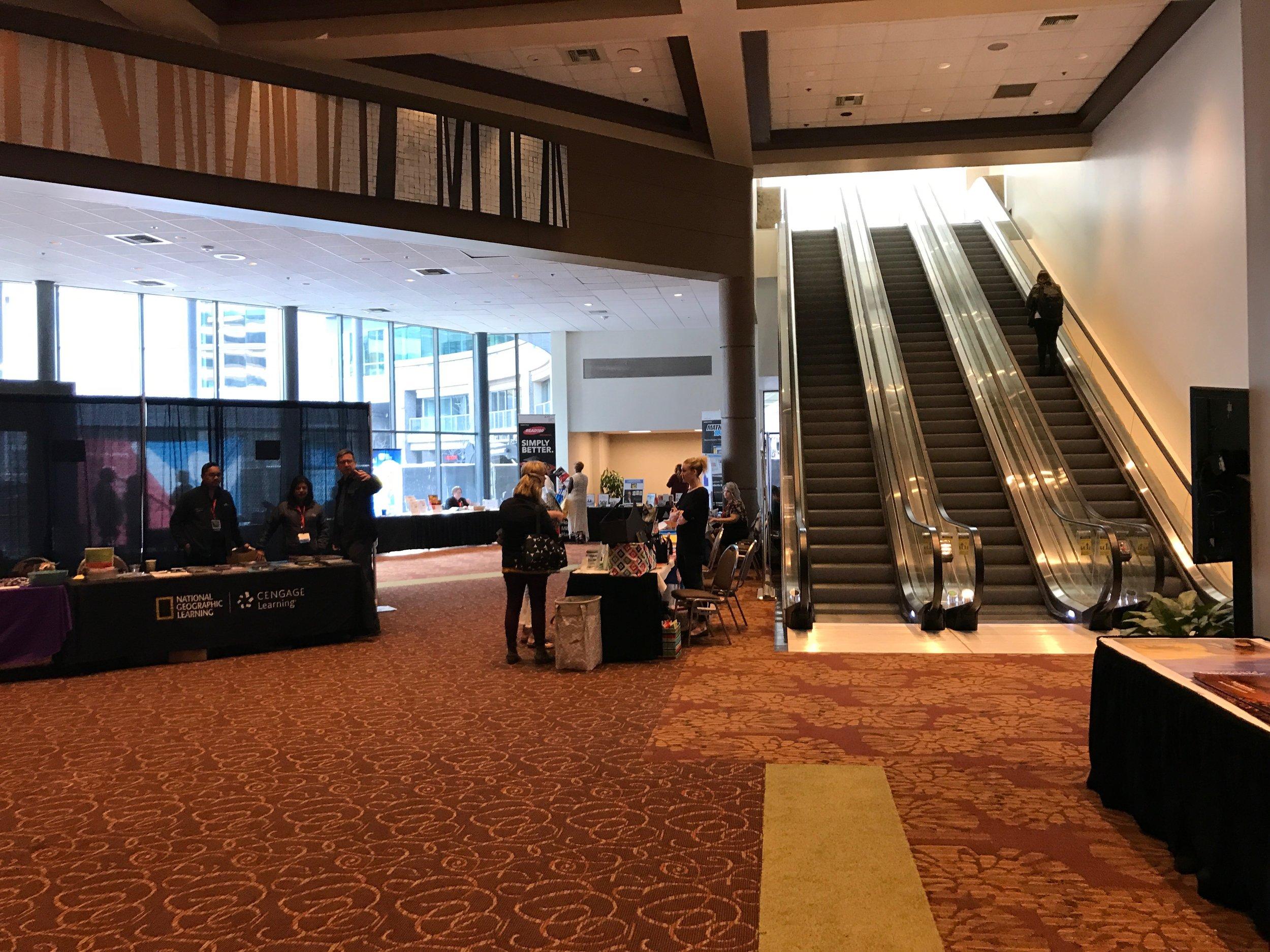 View towards esclators from original Boise Centre lobby