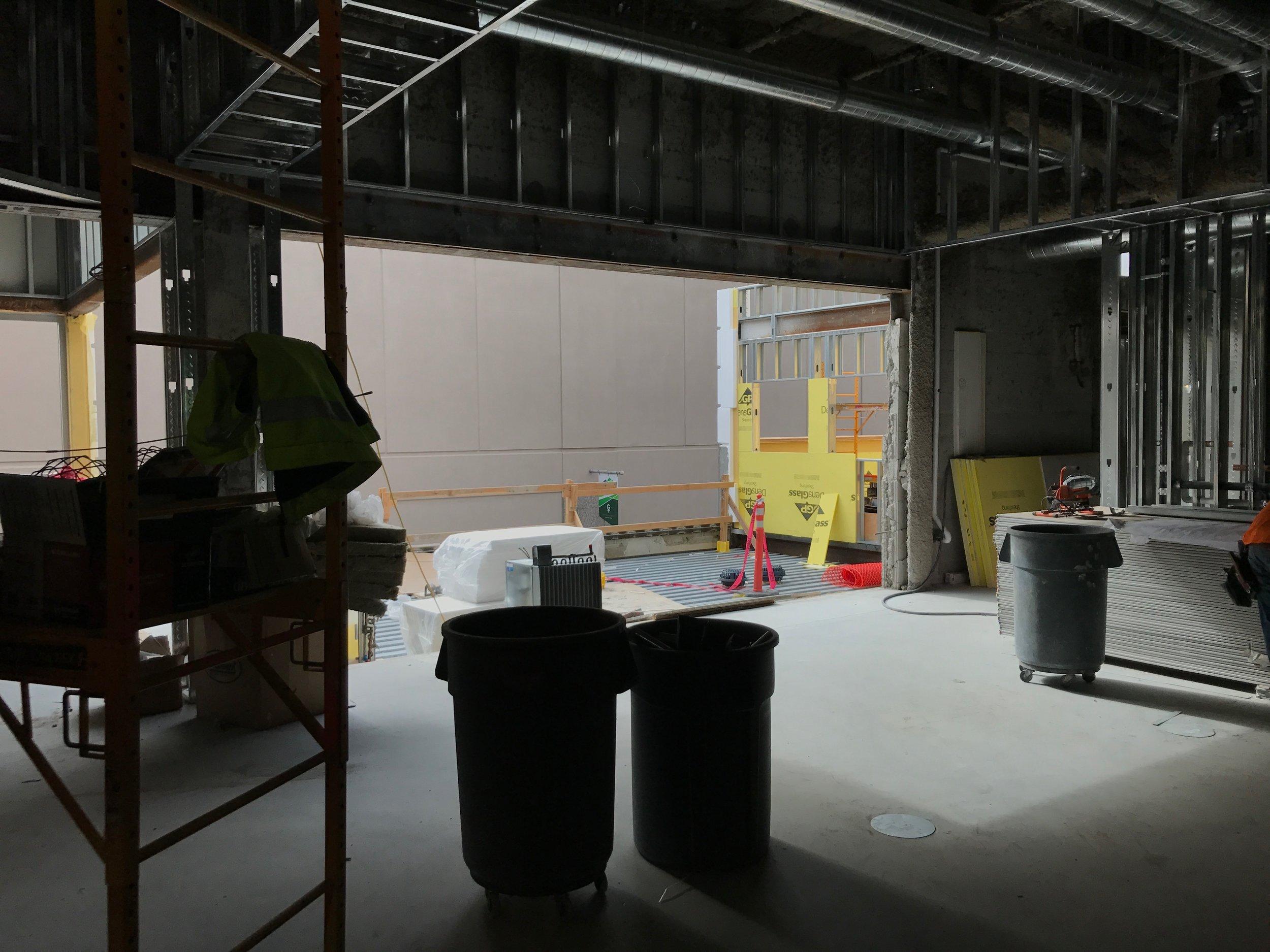 New board room on second floor - looking toward patio