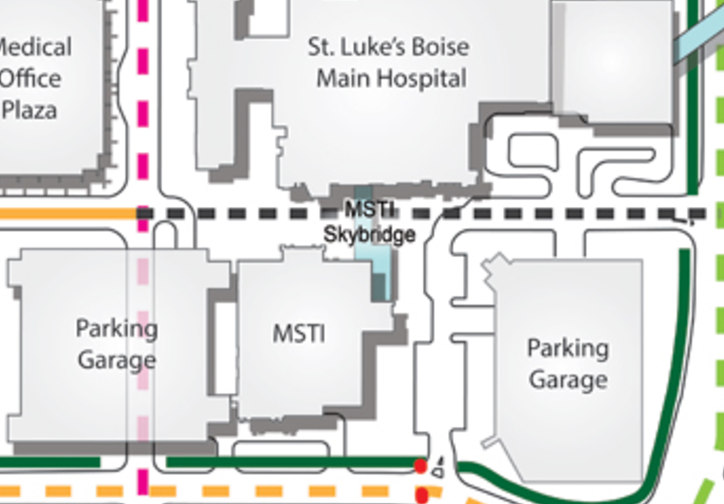 """Bannock St. between MSTI and the """"Main Hospital"""" is current closed to all but pedestrians and cyclists. City officials want to see it opened to include vehicle traffic."""