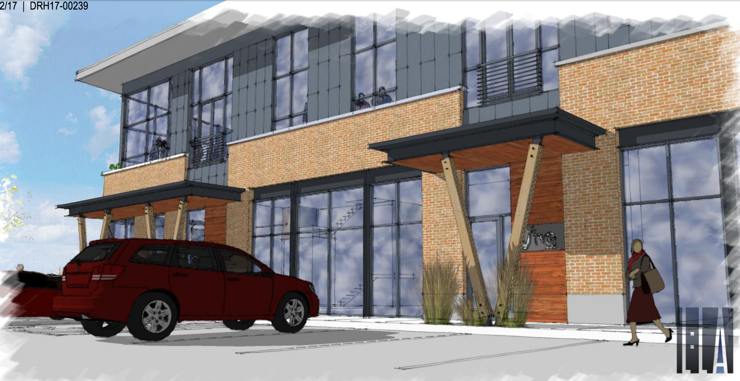 Rendering from 5th St.