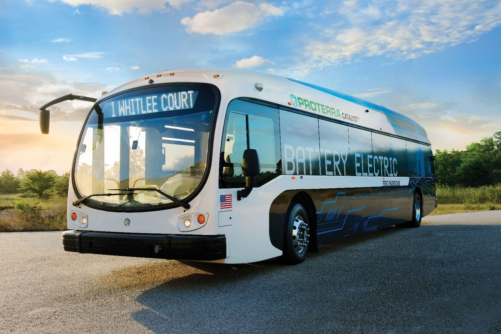 Autonomous electric bus, Courtesy Protera.
