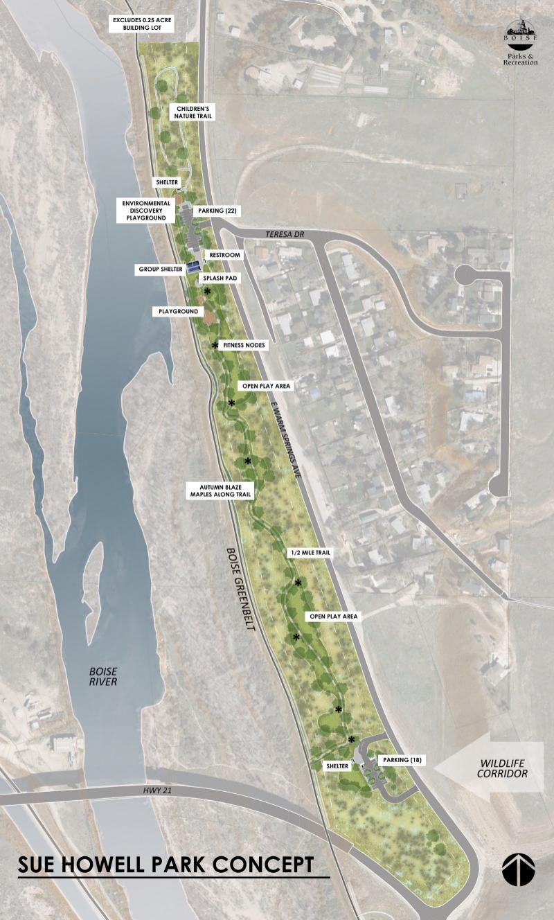 Sue Howell Park plan via City of Boise.