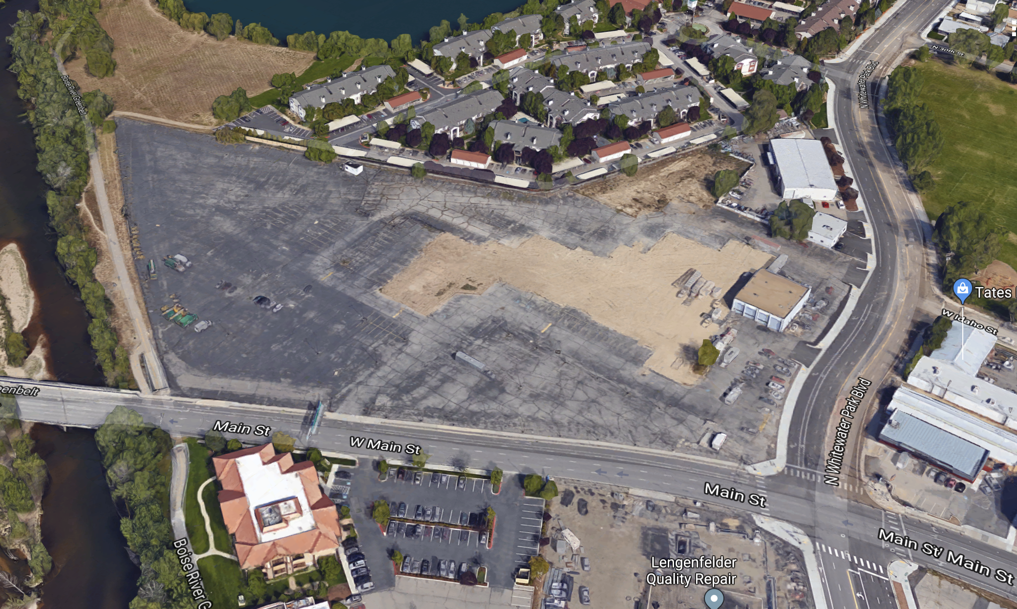 The former Bob Rice Ford site is reported to be a new spot for a Downtown Boise stadium project that has faced fierce opposition. Google Maps image.