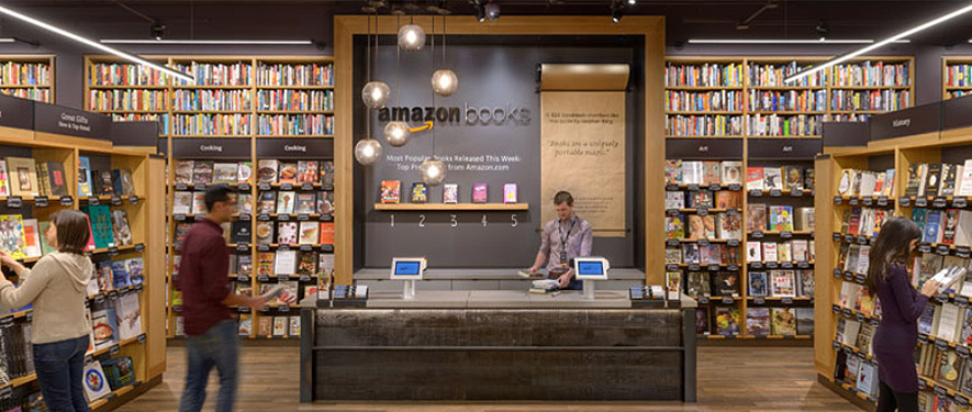 Amazon Books interior. Via Amazon.