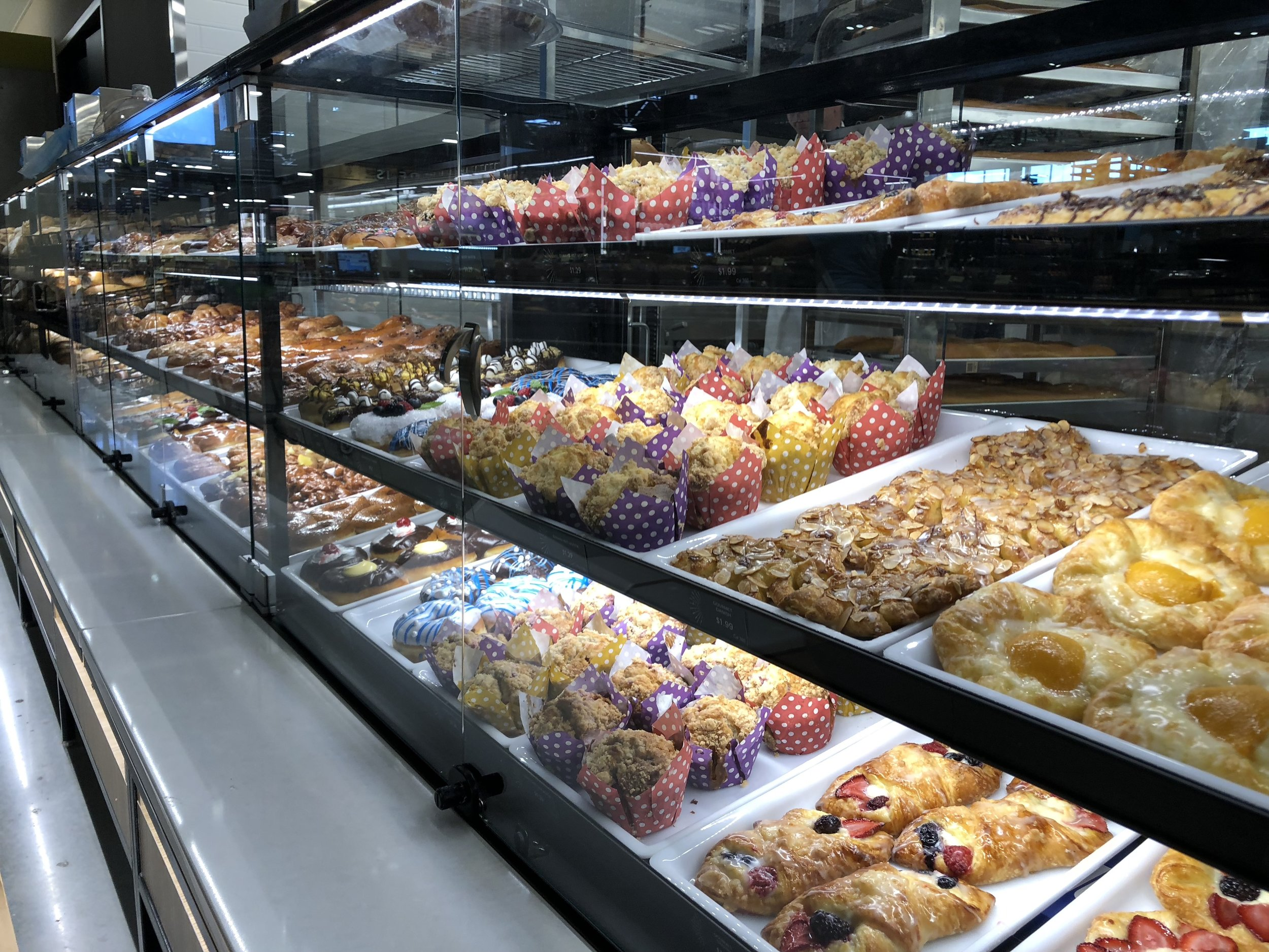 Donut and pastry cases